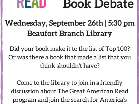 The Great Book Debate at the Beaufort Branch