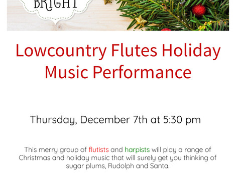 Lowcountry Flutes Holiday Music Performance