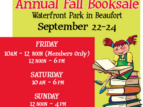 Friends of the Beaufort Library Announce Fall Waterfront Book Sale