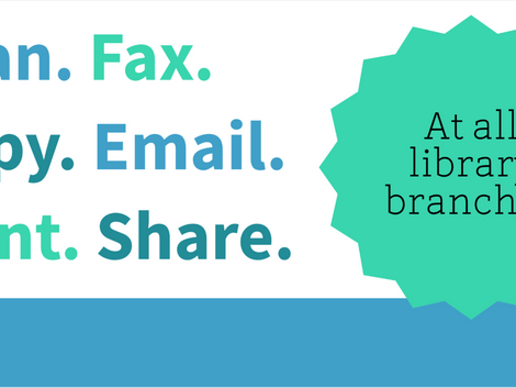 Scan/Fax/Copy/Share at the Library
