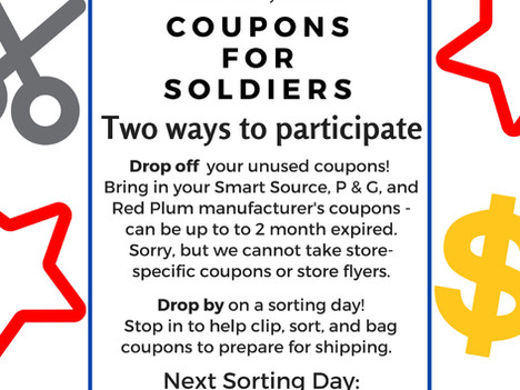 Coupons for Soldiers, NaNoWriMo Write In, Mason Jar Magic at Beaufort Branch