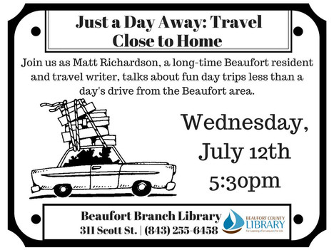 """RESCHEDULED: """"Just a Day Away: Travel Close to Home"""""""