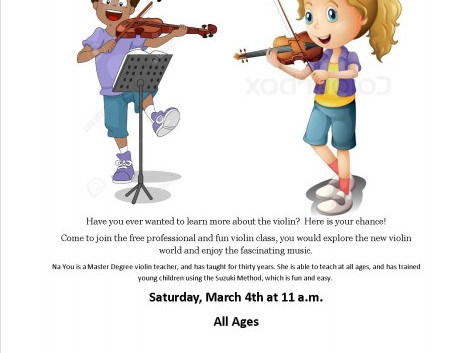 Violin Class, Coding Club, Brains Over Beauty, More for Youth at Bluffton Branch Library