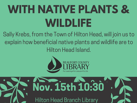 Sharing Your Yard with Native Plants and Wildlife at Hilton Head Branch