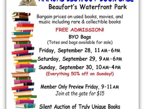 Gigantic Book Sale in Beaufort's Waterfront Park