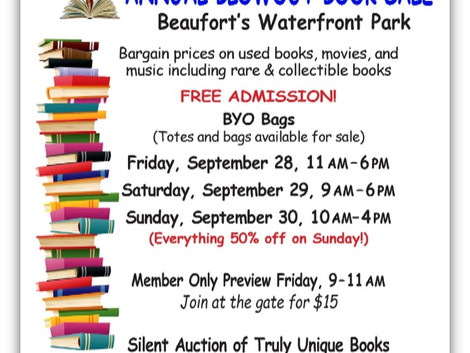 Gigantic Book Sale in Beaufort's Waterfront Park
