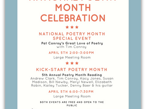 Celebrate Poetry Month at Hilton Head Branch