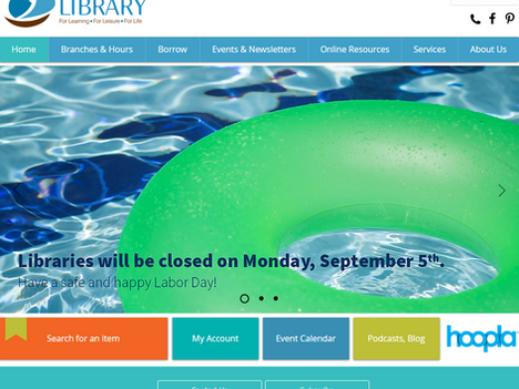 Library Debuts New Website