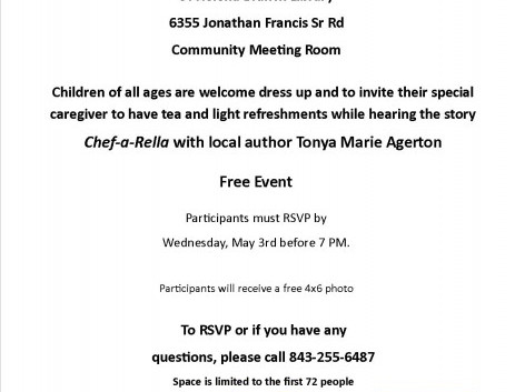 Mother's Day Tea, Let's Build Something Together event, and More at St. Helena Branch Library