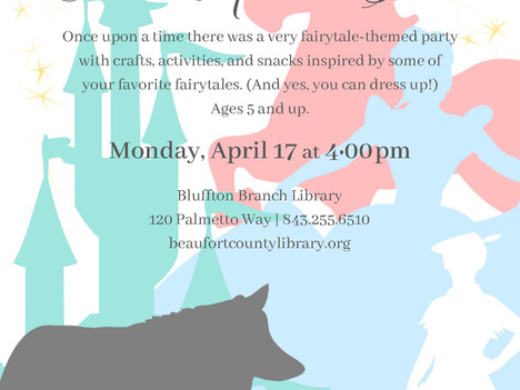 LEGO Robotics, Traveling Preschool Bus, Fairytale-Themed Party at the Bluffton Branch Library