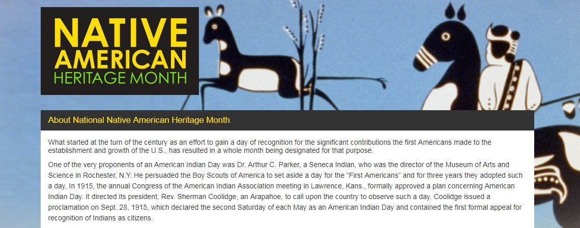NationalNativeAmericanHeritageMonth.