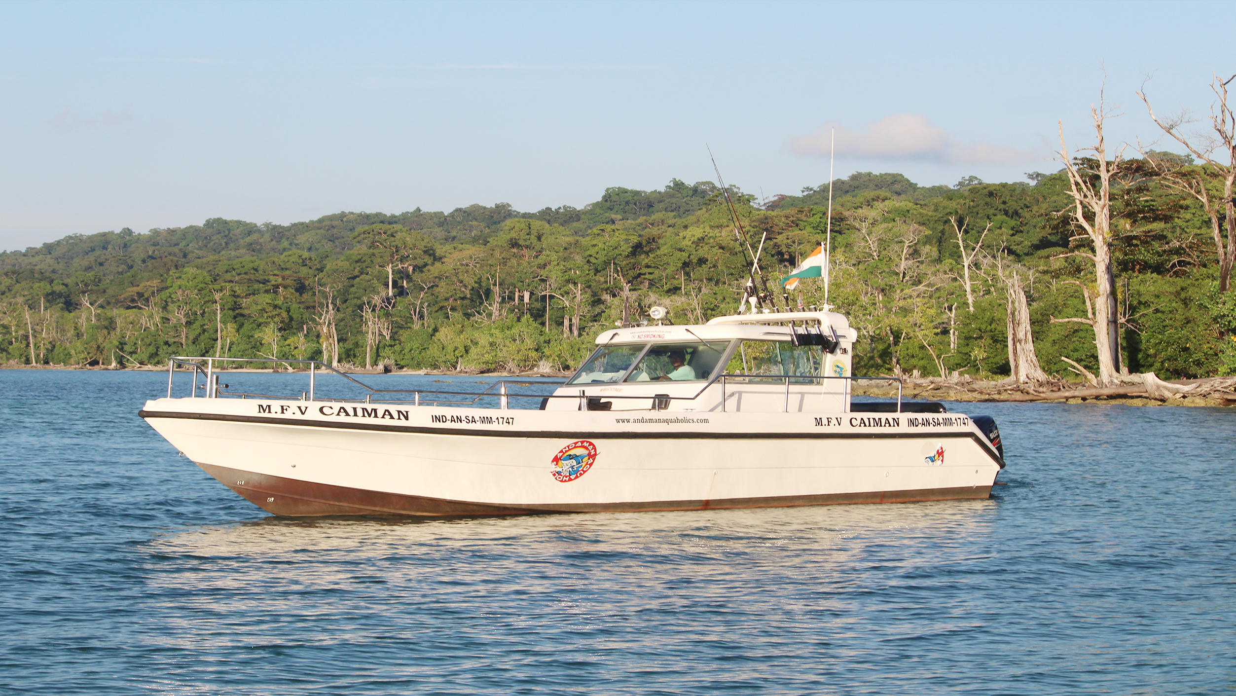 MFV Caiman fishing boat in india elephant beach