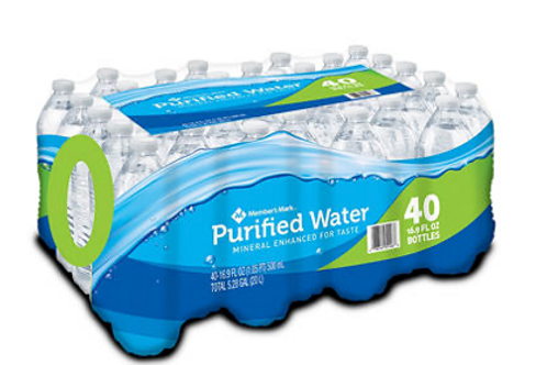 MEMBERS WATER 16.9 OZ / 40 CT (48 CASES PER PALLET)