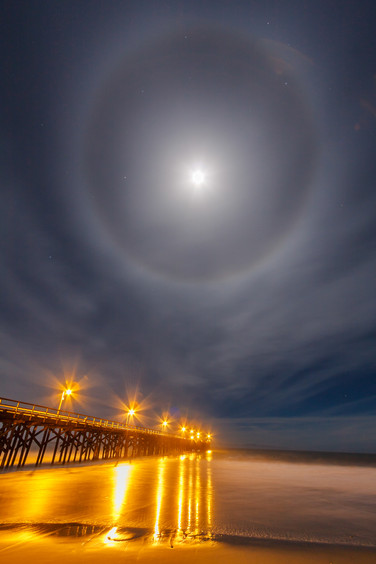 Pier and Moonbow