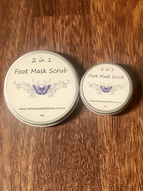 2 in 1 Foot Scrub Mask