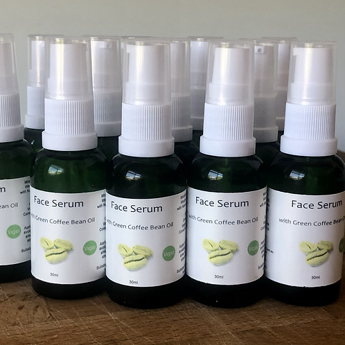 Face Serum with Green Coffee Bean oil