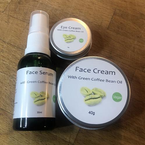 Face Moisturiser with Green Coffee Bean oil