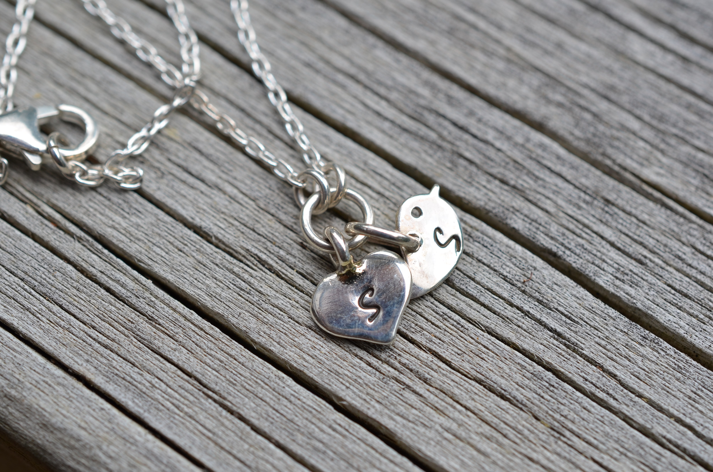 Silver initial jewelry