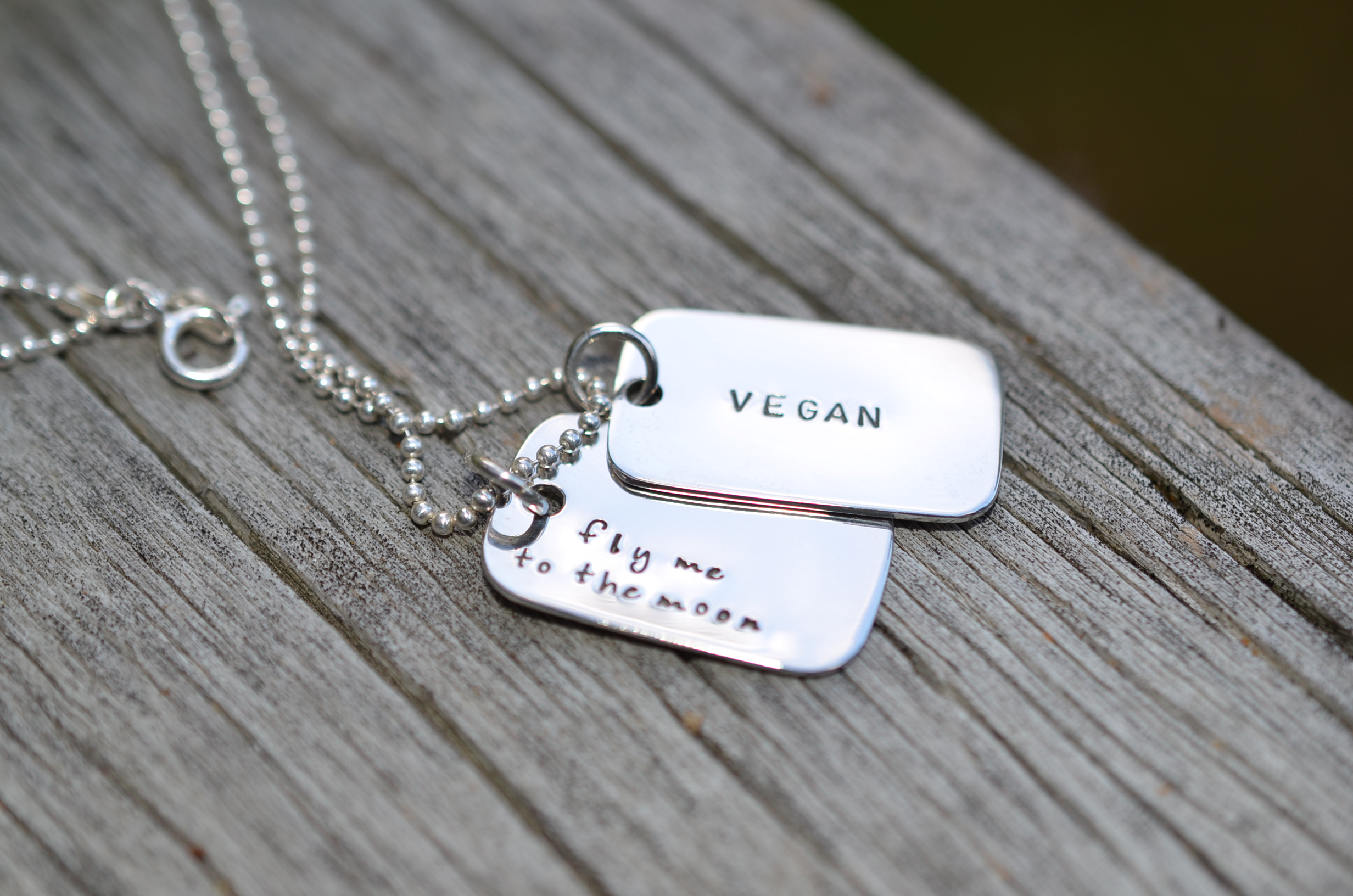 Vegan dog tags