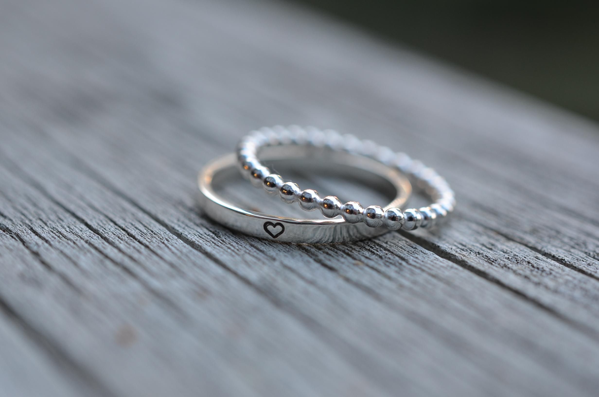 Mini stacking rings
