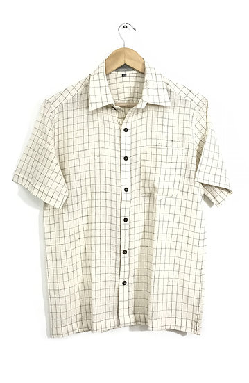 Beige Checks Shirt