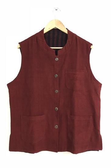 Red Reversible Nehru Jacket