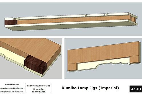 Jig plan for Kumiko Lamp (Imperial)
