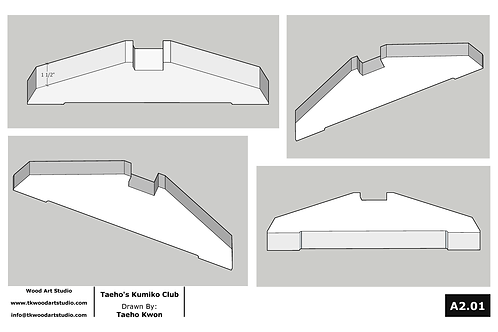 Metric (mm) Feet Template for Taeho's Kumiko Club Panel