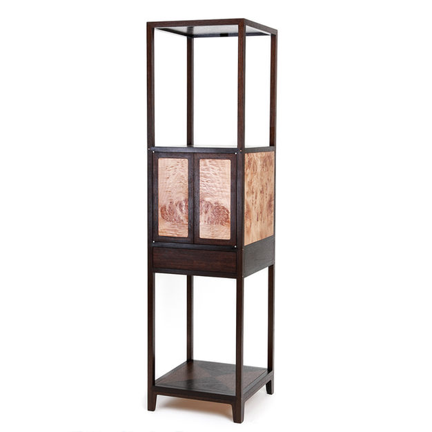 Display Cabinet with Open Shelves