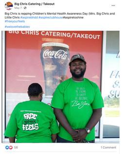 Big Chris Catering / Takeout celebrates Children's Mental Health Awareness Day in Leesburg, GA!