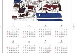 お知らせその2オリジナルカレンダープレゼント&イラスト販売始めました。