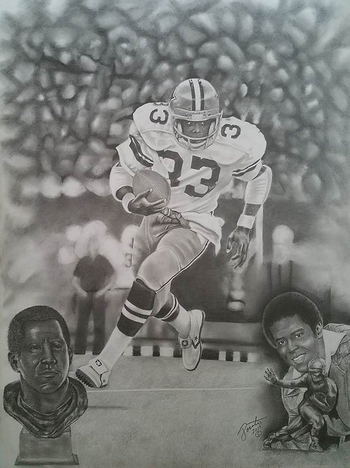 Tony Dorsett 24x36 limited edition print