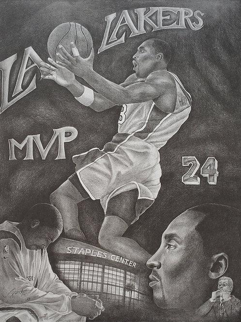 Kobe MVP size 22x28 limited edition print