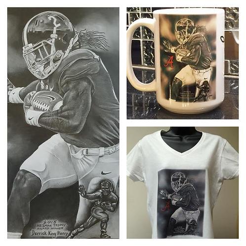 Female DH 18x24 ltd etd print t-shirt and 15oz mug