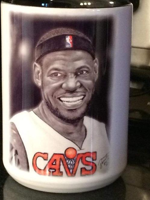 LeBron James 4 piece mug set