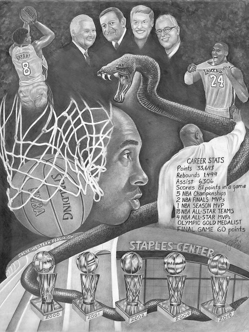Black Mamba Out 20x30 limited edition print