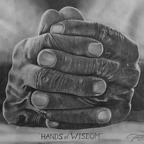 Hands of Wisdom 22x28  limited edition print