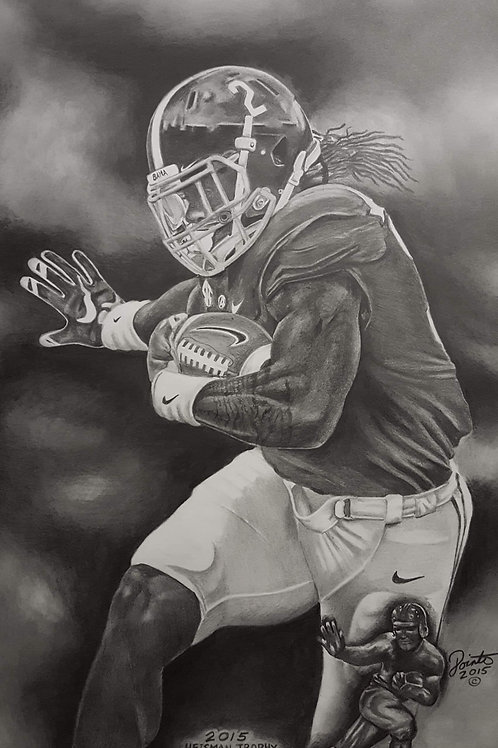 Derrick King Henry 18×24 limited edition  print