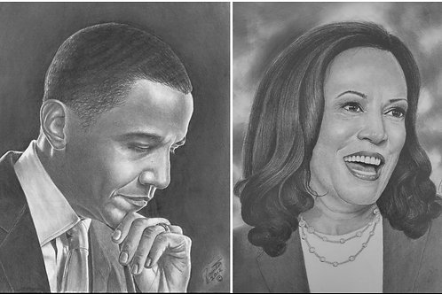 OBAMA & HARRIS 16X20 limited edition combo