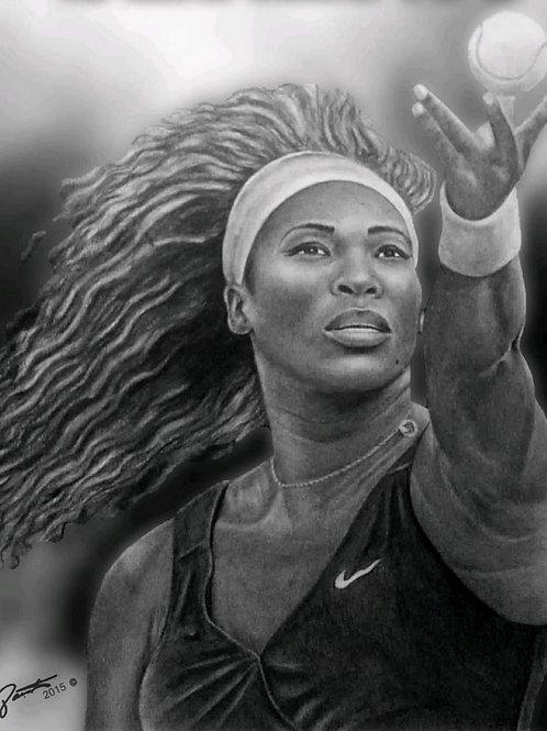 16x20 Original of Serena Williams