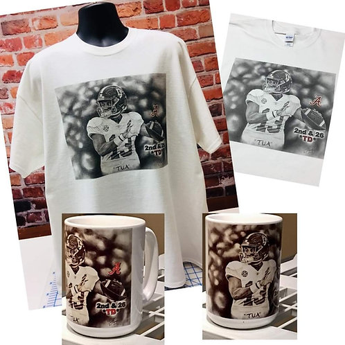 TUA t-shirt and 15oz mug