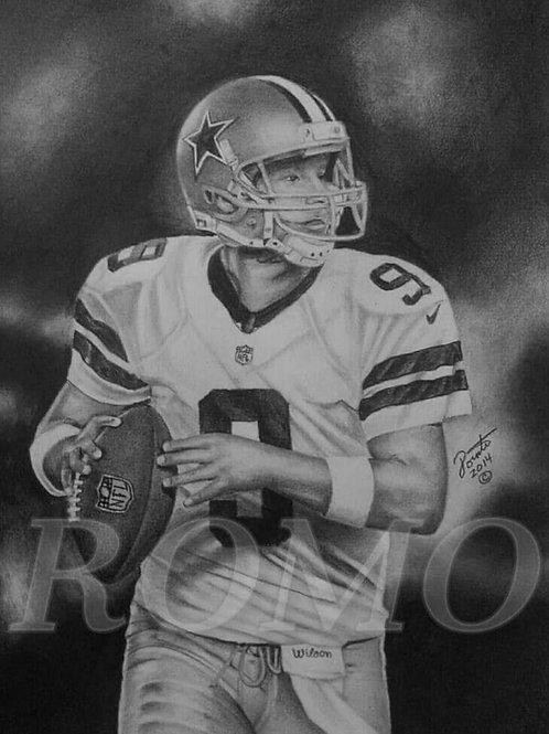 Tony Romo #9 limited edition 16x20  print