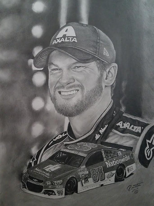 Dale Earnhart Jr 24x36 limited edition print