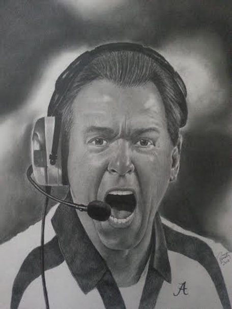 Coach Saban 16x20 limited edition print