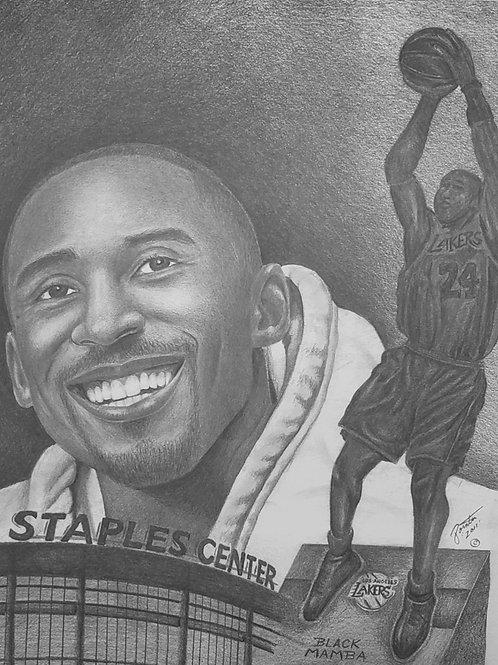 """Kobe """"Black Mamba"""" Bryant size 18x24"""