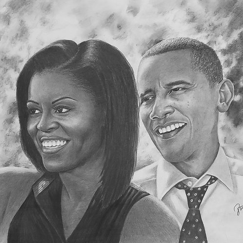 The Obamas 20x30 limited edition print