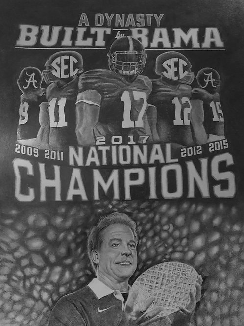 ROLL TIDE CHAMPS size 16x20 limited edition