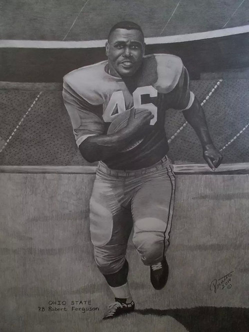 Ohio St Great Robert Fergurson 18x24 ltd edition