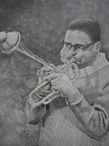 Dizzy Gillespie 14x15 limited edition print