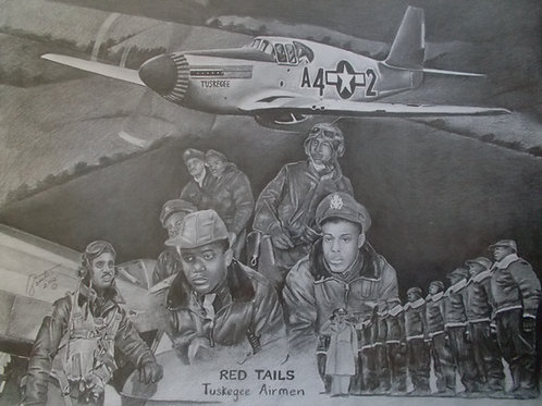 "Tuskegee Airman ""Collector's Items 20x30 print"